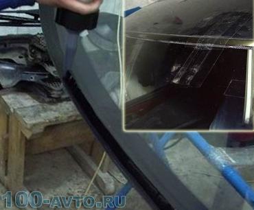 Нанесение герметика на стекло