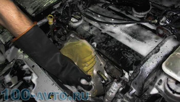 Как мыть двигатель