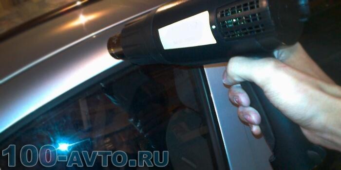 Тонировка заднего стекла своими руками без строительного фена 39