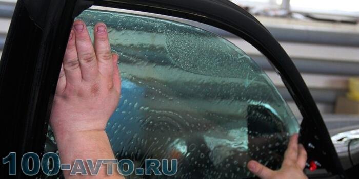 Тонировка заднего стекла своими руками без строительного фена 51