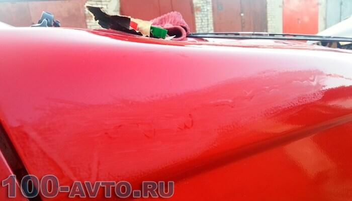 Как убрать потёки после покраски автомобиля