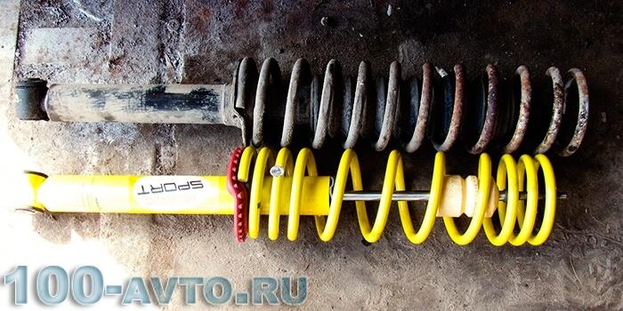 Менять или нет пружины при замене амортизаторов